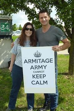 """On the set of """"Black Sky"""" - I bet the entire Armitage Army wish they were her :P"""