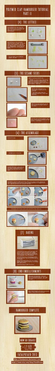 polymer clay hamburger tutorial- PART II by *FatalPotato on deviantART