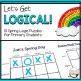 Spring Logic Puzzles. Great brain teasers to start critical thinking and problem solving in the elementary classroom. Grid puzzles with answer keys. Reading Response Activities, Critical Thinking Activities, 1st Grade Activities, Back To School Activities, Spring Activities, 2nd Grade Classroom, Primary Classroom, Classroom Resources, Logic Puzzles