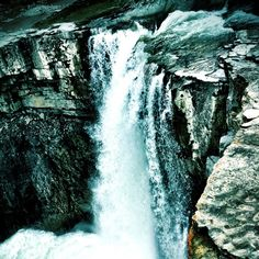 Alberta, Alberta, Canada — by Alia Hennawi. This is one of the two falls that are at Cresent Falls Alberta