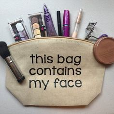 Travel Makeup Bag Sewing Pattern around Makeup Forever Brush Cleaner; Makeup Forever Lip Booster concerning Makeup Geek Bake Sale not Makeup Forever King Of Prussia Mall Vinyl Crafts, Vinyl Projects, Bag Quotes, Silhouette Cameo Projects, Shot Glasses, Gifts For Mum, Makeup Forever, Toiletry Bag, Makeup Organization
