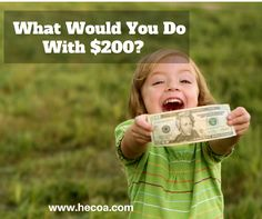 HECOA » What would you do with 200 bucks for your homeschool?