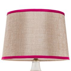 Threshold™ Beige Lamp Shade with Pink Trim - Large