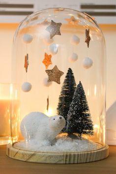 DIY : un décor sous cloche pour Noël - Je suis vernie