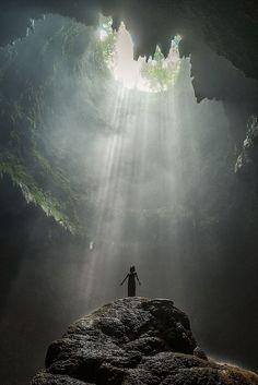 To the light | Jomblang Cave,Yogyakarta, Indonesia                              …