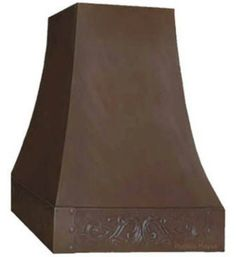 Copper hood with hammered apron '0270' is produced in coffee, honey, antique and natural color. Select width and version as island or wall mount. It can be made ready for any brand insert. Copper Range Hood '0270' by Rustica House. #myRustica