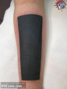 Talk about a bold statement... #blackwork #tattoo