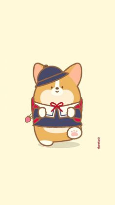Cute Corgi, Corgi Dog, Kawaii Drawings, Cute Drawings, Pug Breed, Hamster Toys, Cafe Logo, Cute Cartoon Animals, Disney Fairies