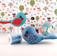 so cute handmade fabric birds