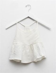 Creatures of Comfort Lil Nella Top- White Linen