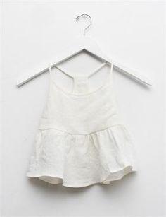 Creatures of Comfort Lil Nella Top- White Linen