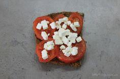 tomatoes and feta toast