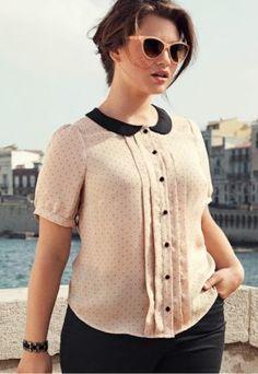 AGHHH LOVE THIS!! CUTENESS TO THE EXTREME. Plus size fashion photos - Tara Lynn for HM.jpg #plus-sized