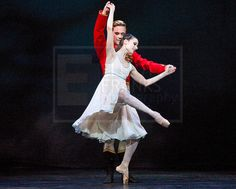 Emma Maguire as Clara and Alexander Campbell as Hans-Peter in Act 1 of the Royal Ballet's Nutcracker. Photo by Elliott Franks