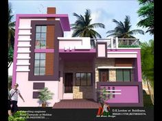 NEW HOME ELEVATION PLAN - YouTube House Front Wall Design, House Outer Design, Single Floor House Design, Bungalow House Design, Floor Design, Ceiling Design, Front Elevation Designs, Elevation Plan, House Elevation