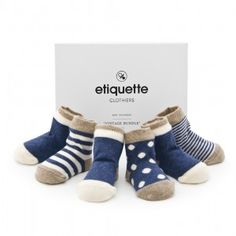 Etiquette Clothiers baby Socks 6-pair bundle. Little luxuries for newborns and toddlers. Crafted from the finest Italian combed cotton.