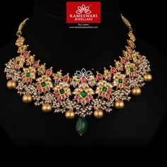 Heritage Guttapusalu set in Mozanites Gold Earrings Designs, Gold Jewellery Design, Necklace Designs, Antic Jewellery, Gold Designs, Temple Jewellery, Bridal Jewellery, Simple Designs, Real Gold Jewelry