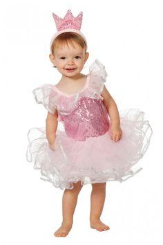 Prinses roze pailletten met tiara - Kinderen - Hendriks Carnaval