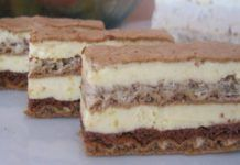 Piškotový dort s vanilkovým krémem – báječná jemná chuť!
