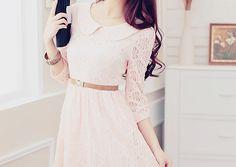 Baby pink Peter Pan collar dress