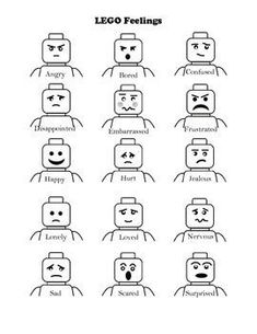 LEGO Block feelings chart (Child Life--coping strategy) Naming and talking about emotions Lego Therapy, Therapy Activities, Play Therapy, Art Therapy, Feelings Chart, Feelings And Emotions, Coping Skills, Social Skills, Child Life Specialist