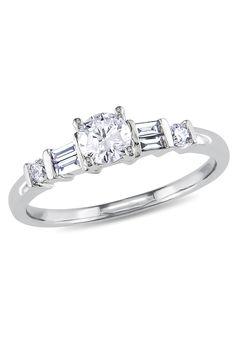 .5CT Diamond Engagement Ring In 14k White Gold