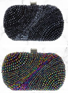 The clutch fashion bloggers are going CRAZY over | Nina Shoes Faison www.NinaShoes.com Sparkly Heels, Nina Shoes, Going Crazy, Fashion Bloggers, Beanie, Outfits, Accessories, Coin Purses, Totes