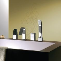Elegant and personal; unusual and modern -the large spout. Sanitary Solutions By Hafele