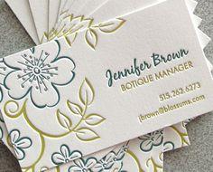 Oh So Beautiful Paper: Letterpress Calling Cards Premium Business Cards, Cool Business Cards, Creative Business, Letterpress Business Cards, Letterpress Printing, Card Printing, Envelopes, Business Card Maker, Presentation Cards