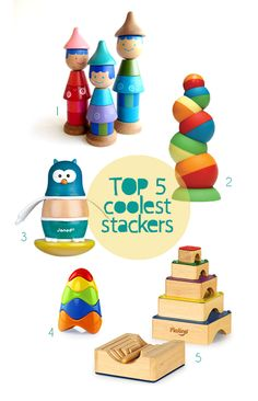 top 5 stackers for toddlers – handmade toys for kids – unique modern stacking toys | Small for Big