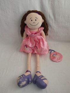 Jellycat Doll Pink Dress Hand Bag Plush Soft Toy Teddy Approx 23  Free Post (A,H