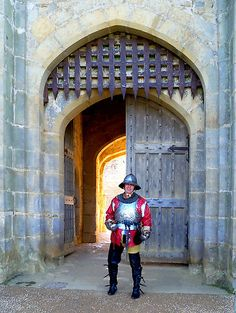 Roundhead Soldier at Castle Gate