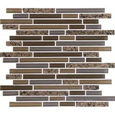 "Daltile Granite Radiance .625"" x Random Sized Mosaic Tile in Tropical Brown Blend"