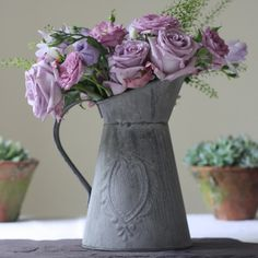 Slate Grey Metal Jug - The Wedding of My Dreams