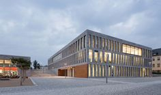 Image 15 of 21 from gallery of New building for the University- and State-Library Fulda / ATELIER Photograph by Werner Huthmacher Mensa, Ground Floor Plan, Cladding, Floor Plans, House Styles, Gallery, Outdoor Decor, Buildings, Kindergartens