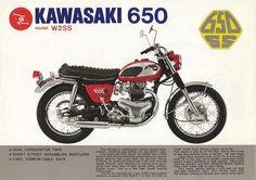 Vintage Kawasaki W2SS 650CC Motorcycle