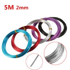 2.0mm Aluminum Wire Craft Art Oxidation Cable DIY Tools 5 Meter