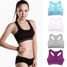 1f799f4a2f343 Absorb Sweat Quick Drying Cropped Push up Bras Fitness Padded Stretch  Workout Top Vest Sleeveless Underwear