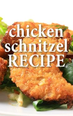 MIchael Symon whipped up Boris Kodjoe's Chicken Schnitzel recipe with Browned Butter Mashed Potatoes and a Crunchy Granny Smith Apple recipe on The Chew. The Chew Recipes, Great Recipes, Dinner Recipes, Cooking Recipes, Schnitzel Recipes, Chicken Schnitzel, Turkey Recipes, Chicken Recipes, Czech Recipes