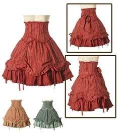 This is kinda cute, not sure if I would wear it, but it appeals to the part of me that loves the old-fashioned southern-belle dresses.