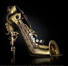 Alto saxophone shoes! Omg... I'd almost want them!