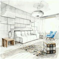 Living room design drawing