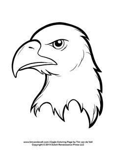 Bald Eagle Coloring Page for Kids | Patriotic Coloring Pages