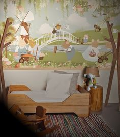 little hands: Little Hands Wallpaper Mural - Flower Garden