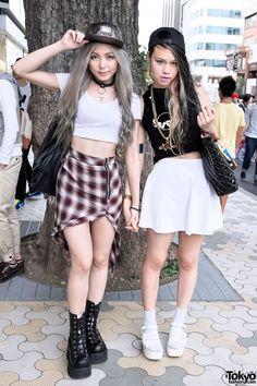 Misa & Tsumire Sung in Harajuku, courtesy of tokyofashion.com I <3 Misa's skirt soooooo much!