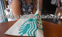 I love treats from Starbucks!