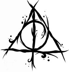 how to make a deathly hallows seal or stamp