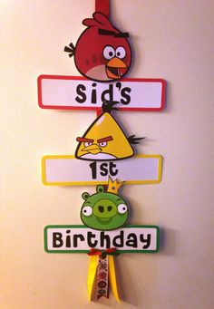 Angry Birds Party Sign on Etsy, $20.00