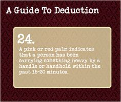 A Guide To Deduction #24