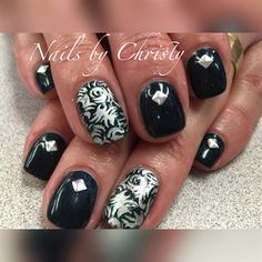 Dark Blue And Silver by ChristySparkles from Nail Art Gallery